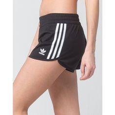 Adidas Regular shorts.  Casual athletic short with three stripe appliques at the sides.  Adidas Trefoil at the hem.  Elasticized waistband.  Dolphin short hem.…