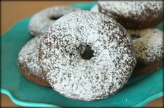 Fluffy Baked Chocolate Donuts