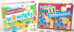 2 LOT SEARCH FIND SILLY LITTLE MONSTERS + SPOT THE DIFFERENCE 12x15 BOOK MARKER
