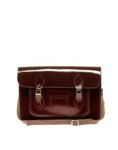 *sigh* my favorite school bag... Cambridge Satchel Company Oxblood patent satchel