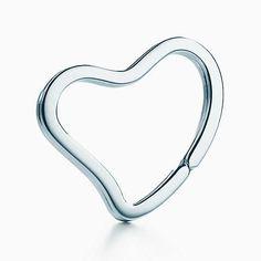 Elsa Peretti® Open Heart key ring in sterling silver.