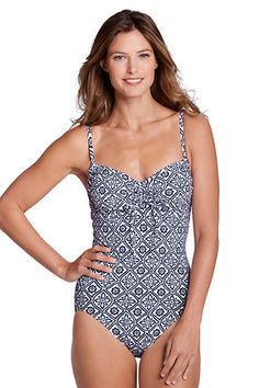 Women's Beach Living Batik Scoopneck One Piece Swimsuit from Lands' End like the one from mamma mia