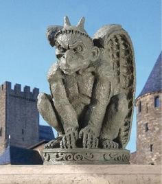 gargoyle statues | Medieval Menacing Gargoyle Sculpture Gothic Statue | eBay