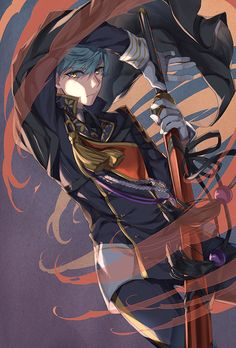 *Unedited* A renowned novelist died from a murder, and was reincarna… Fiction Touken Ranbu, Character Drawing, Character Illustration, Character Design, Manga Art, Manga Anime, Anime Art, Katana, Boys Anime