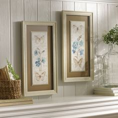 Butterfly Blooms Framed Art Prints bring the beauty of spring into your home. Hang these on your wall for an added elegance and charm of nature!