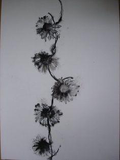 flower spine tattoo - Google Search