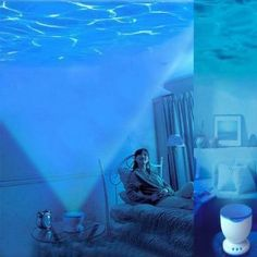 Lujex Romantic Ocean Daren Sea Waves Projector Lamp iPhone Speaker LED Night Light on Wanelo Night Light Projector, Projector Lamp, Led Night Light, Projector Ideas, My New Room, My Room, Dorm Room, Ocean Room, Beach Room