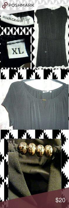 I just added this listing on Poshmark: Black Stretch Romper Dress Sz XL. #shopmycloset #poshmark #fashion #shopping #style #forsale #Susan Graver #Pants
