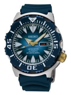 Seiko SRP455 Blue Monster Superior Limited Edition Automatic Diver's Men's Watch $371.25 #Seiko #Watches