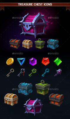Treasure Chest Icons on Behance