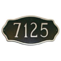 Montague Metal Products Hampton Standard Address Plaque Finish: Black / Silver, Mounting: Lawn