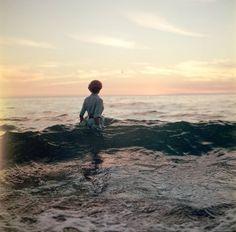 Frau im Wasser: Ich würde sagen, es war ein professionelles Fotoshooting für...