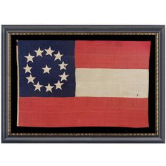 Entirely Hand-Sewn Confederate First National Stars and Bars Pattern Flag 1