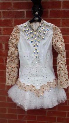 Brilliant White Irish Dance Dress Solo Costume For Sale