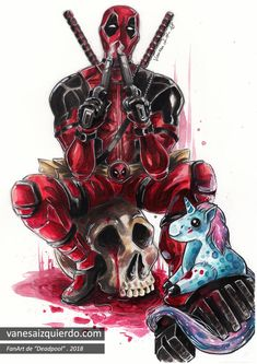 fanart——> i know it's not really an anime but this was so Deadpool Art, Deadpool And Spiderman, Deadpool Kawaii, Deadpool Drawings, Deadpool Wallpaper, Marvel Wallpaper, Marvel Art, Marvel Comics, Marvel Universe