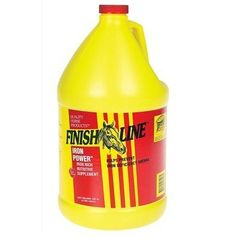 Finish Line Iron Power (64 oz), Size: 128 oz by Finish Line. $35.25. A high iron, high B-Complex liquid vitamin supplement. Trainers highly recommend IRON POWER. Easy to feed liquid contains biotin, and your horse will actually eat this iron supplement--he'll clean up his feed!IRON POWER will improve your horse's general well being and is a great value! Compare vitamin and iron levels to higher priced liquid supplements, and you will see that IRON POWER is the best valu...