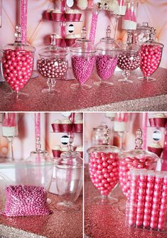Ideas baby shower decorations for table candy buffet apothecary jars Baby Shower Themes, Baby Shower Decorations, Shower Ideas, Baby Shower Candy Table, Pink Parties, Birthday Parties, Grad Parties, 2nd Birthday, Birthday Ideas
