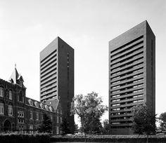 Cenakel Tilburg - Bedaux de Brouwer Netherlands, Skyscraper, Brick, Multi Story Building, Tours, Image, Collection, Arquitetura, The Nederlands