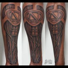 Nick Cannon's biomechcanical sleeve Artist: Jarrett DeMartino  Shop: Solid Gallery One  Instagram: solidgalleryone solidgalleryone.com