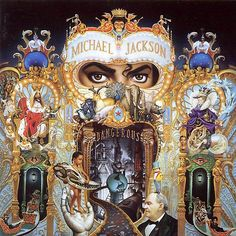 """Michael Jackson - Dangerous The creator of the cover of """"Dangerous"""" was the artist Mark Ryden. It took six months to end in. Much of the life of Michael Jackson is reflected in it both in pictures as symbols. Michael Jackson Dangerous, Mark Ryden, Music Album Covers, Music Albums, The White Stripes, Paris Jackson, Cd Rock, Illuminati, Cd Cover"""