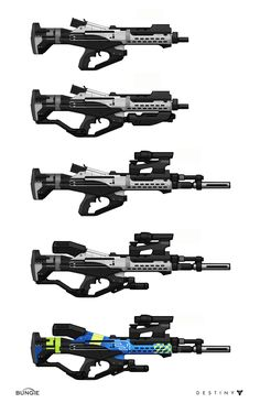ArtStation - Destiny: Base rifle iterations, Isaac Hannaford