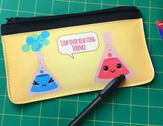 A pencil pouch for a chemistry major.