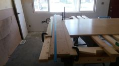Large DIY tracksaw.