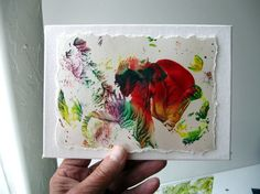 Original small abstract painting painted with by StudioSabine