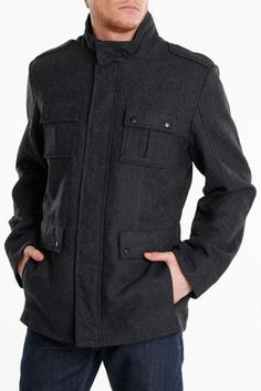 Calvin Klein Adriano Jacket in Charcoal