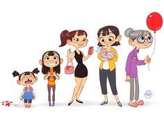 Character Design Sketches, Character Design Girl, Character Design Animation, Character Design References, Character Illustration, Character Concept, Character Art, Cartoon Faces, Cartoon Drawings