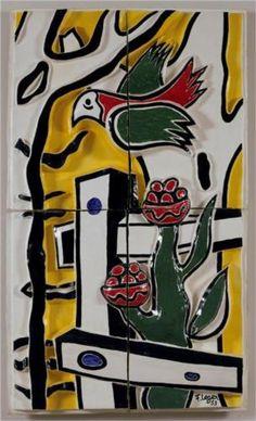 The bird and flower - Fernand Leger