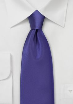 Solid Necktie in Electric Purple $10