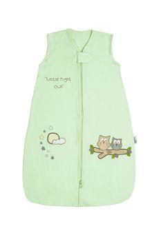 Unser Design Mint Eule in mintgrün aus weichem 100% Baumwoll/Jersey ist eine tolle Alternative zu blau oder pink. Der Schlafsack ist hübsch bestickt mit kleinen Eulen und Sternenhimmel