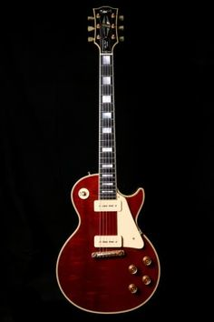 Up for sale today is a very unique Gibson Custom Shop Les Paul. This is a Les Paul Custom with Mahogany top, wrap around tail piece and 2 I'm Rare Guitars, Les Paul Guitars, Gibson Guitars, Vintage Guitars, Learn Guitar Chords, Music Guitar, Cool Guitar, Gibson Les Paul, Fender Electric Guitar
