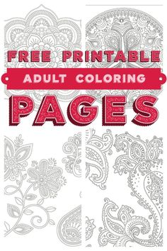 Free colouring pages for adults Coloring books Free printable and