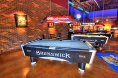 Mac Daddy S Billard Area Billiards Bar Play Pool Tables Arcade