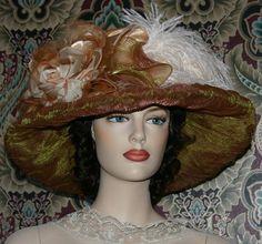 Edwardian Kentucky Derby Hat Lady Agnes by EastAngelHarborHats