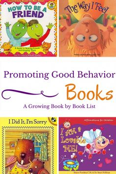 Books for kids that will help redirect and promote good behavior.