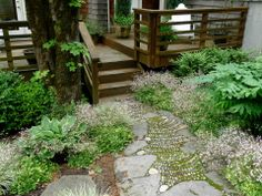 Pebble Mosaic & Flagstone Path by Jeffrey Bale