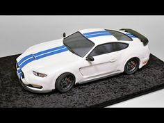 Learn how to make a 3D 2016 Ford Mustang Shelby GT350 car cake.