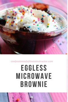 how to make brownies without eggs in microwave