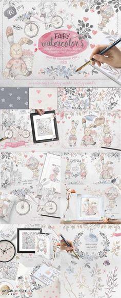 Fairy watercolors Bundle - 520887