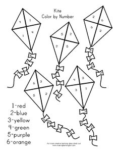 Children's activity and craft templates. Preschool Centers, Preschool Crafts, Creative Activities For Kids, Book Activities, Kites Craft, Halloween Coloring Pages, Color By Numbers, Bullet Journal Art, Spring Theme