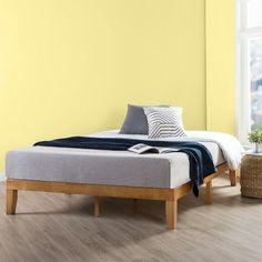 Shop for Queen Size 12 Inch Classic Solid Wood Platform Bed Frame, Natural - Crown Comfort. Get free delivery On EVERYTHING* Overstock - Your Online Furniture Shop! Solid Wood Platform Bed, Modern Platform Bed, Platform Bed Frame, Twin Size Bed Frame, Double Bed Size, Under Bed Storage, Hidden Storage, Storage Bins, Mattress Springs