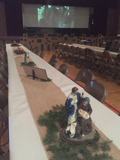 A night in Bethlehem: a Ward Christmas theme.a loop video of the night of Christ played on the large projection screen