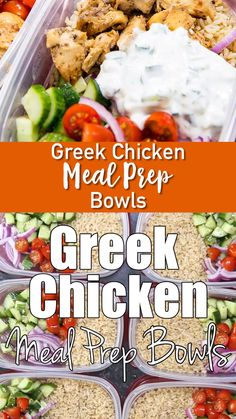 Greek Chicken Meal Prep Bowls These meal prep bowls made with Greek Chicken are insane. You can eat it hot or cold. Prep ahead to have a flavorful meal all week. My favorite way to eat chicken. Making meal prep easy and delicious! Chicken Meal Prep, Chicken Recipes, Chicken Pasta, Chicken Salad, Clean Eating Snacks, Healthy Snacks, Healthy Eating, Healthy Meals To Freeze, Heart Healthy Meals
