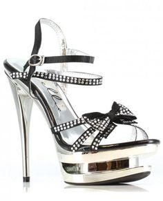 Shoe Kendall Silver Adult Women/'s High Heel Platform Sandal Ellie Shoes
