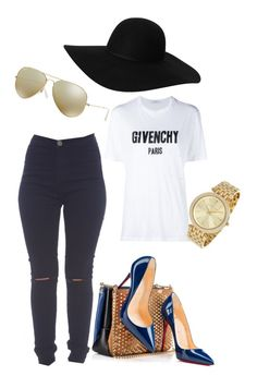 """Untitled #40"" by tay-liangg on Polyvore featuring AX Paris, Christian Louboutin, Givenchy, Monki, Michael Kors and Ray-Ban"