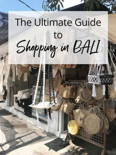 Ultimate Guide to Shopping in Bali Indonesia - From Seminyak to Ubud, don't miss these hidden shopping gems. Voyage Bali, Destination Voyage, Bali Travel Guide, Asia Travel, Travel Tips, Places To Travel, Places To Visit, Travel Destinations, Bali Indonesia