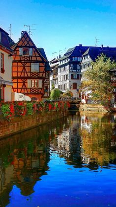 Strasbourg France Boat Canal iPhone 6 Wallpaper